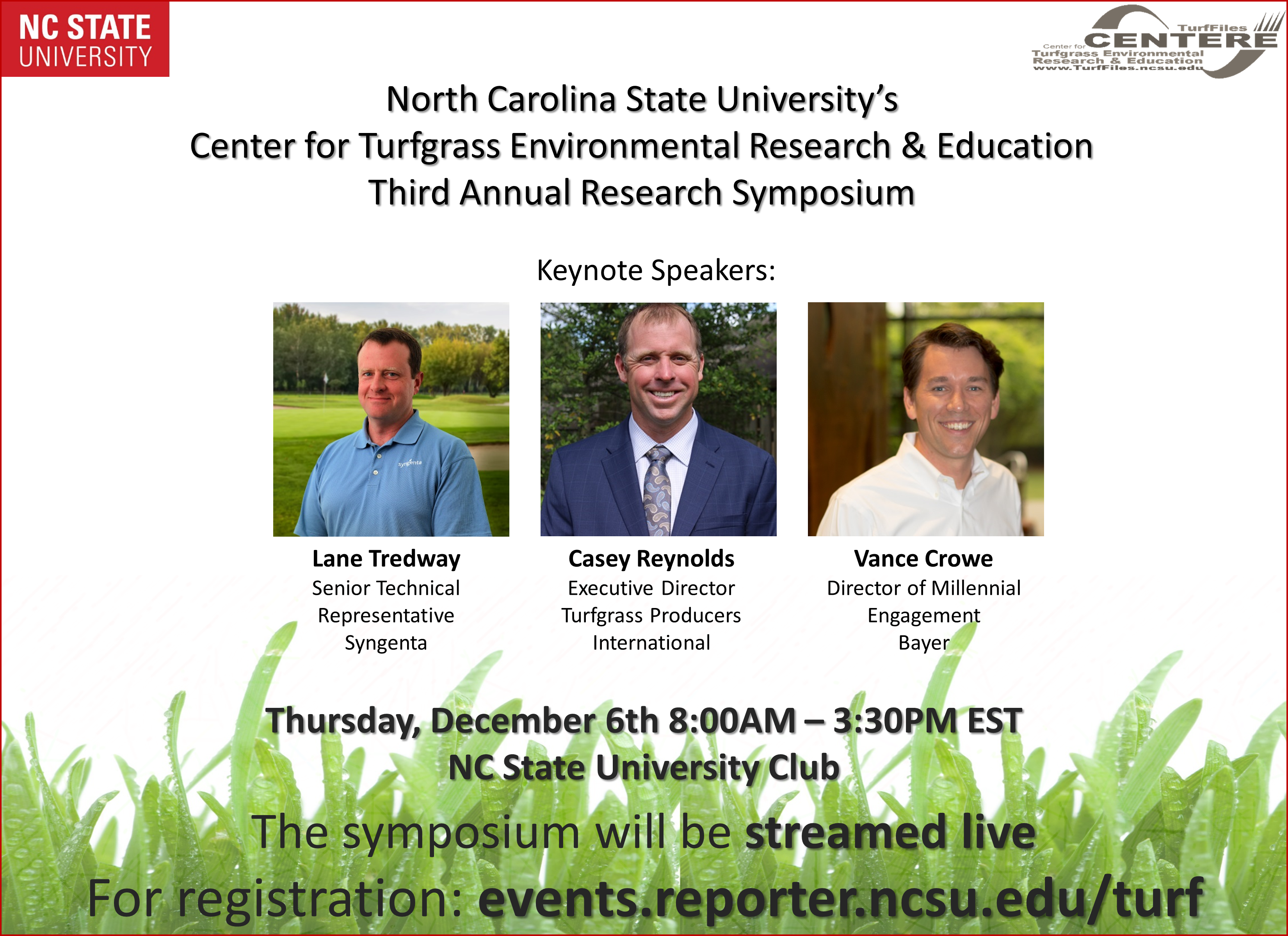 TPI on program at Third Annual NCSU Turfgrass Research Symposium
