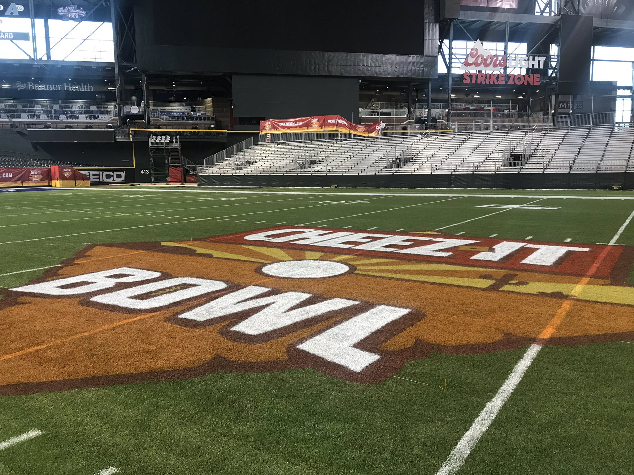 CHASE FIELD GETS NATURAL GRASS FOR CHEEZ-IT BOWL