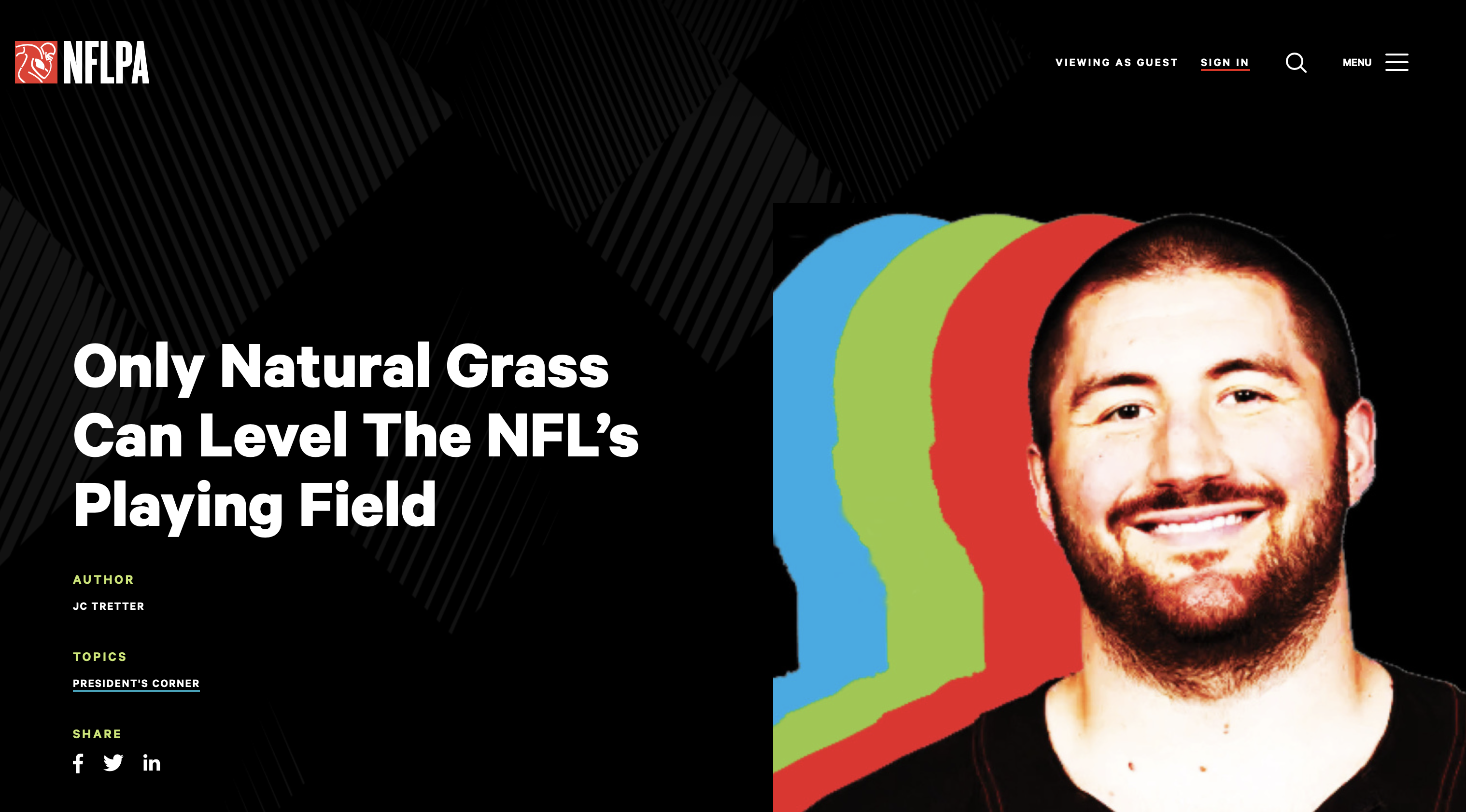 TPI Response to NFLPA Request for Grassing All NFL Fields